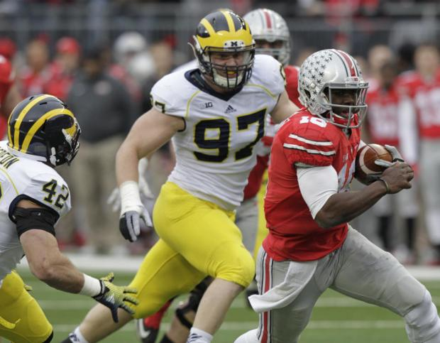 Barrett hurt in Ohio St.'s 42-28 win over Michigan