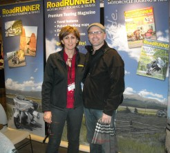 RoadRUNNER publisher Christa Neuhauser and I