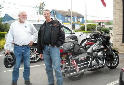 Eddie (New Orleans) & Steve (Hackettstown, NJ). Pleasure meeting these guys on the road in New York State.