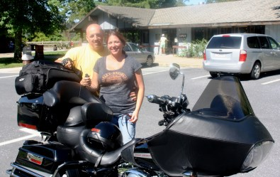 Mike and Colette Pawell from Eagle, Wisconsin. Skyline Drive July 15, 2013.