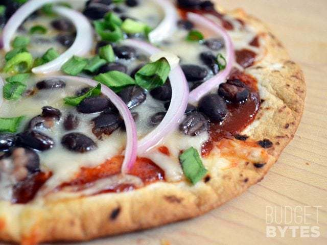 BBQ Black Bean Pizzas