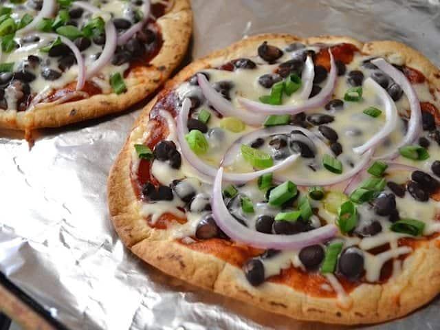 BBQ Black Bean Pizzas