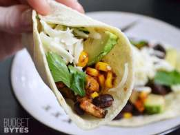 Roasted Corn and Zucchini Tacos