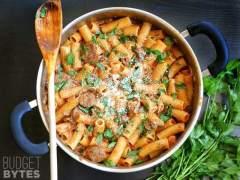 One Pot Sausage Mushroom Pasta
