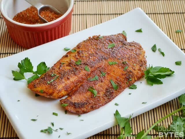 Blackened Tilapia filet
