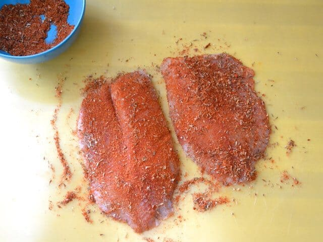 Coat Fish in Blackened Seasoning