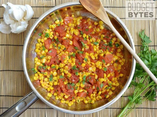 Sautéed Corn and Tomatoes