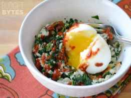 SNAP Challenge: Spinach Rice Breakfast Bowls
