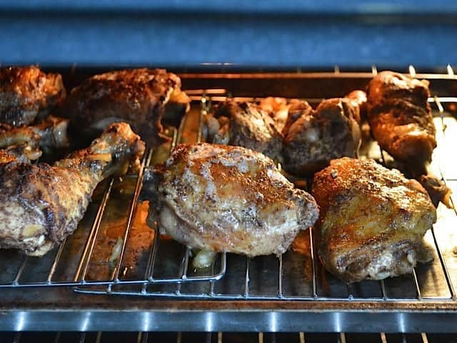 Broiling 5 spice chicken