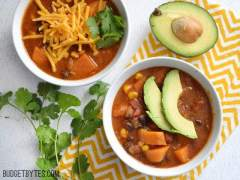 Sweet Potato Tortilla Soup - BudgetBytes.com