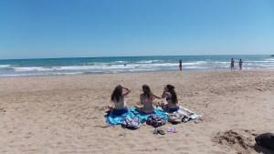 Um dia de praia em Sitges