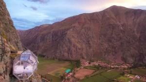 Hotéis incríveis: durma em cápsulas sobre o Vale Sagrado Inca