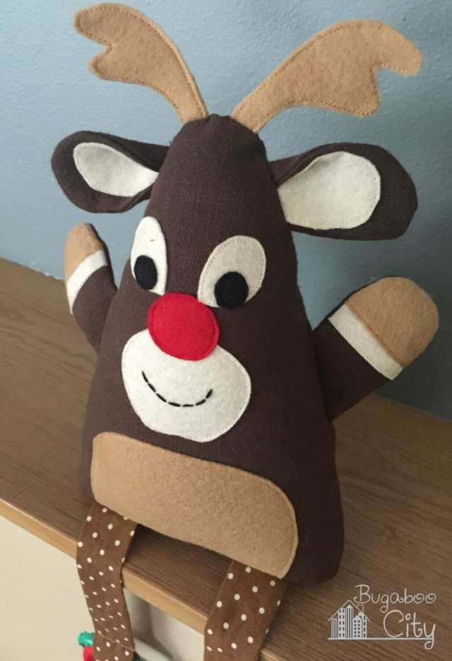 Rudolph baby toy tutorial and free pattern