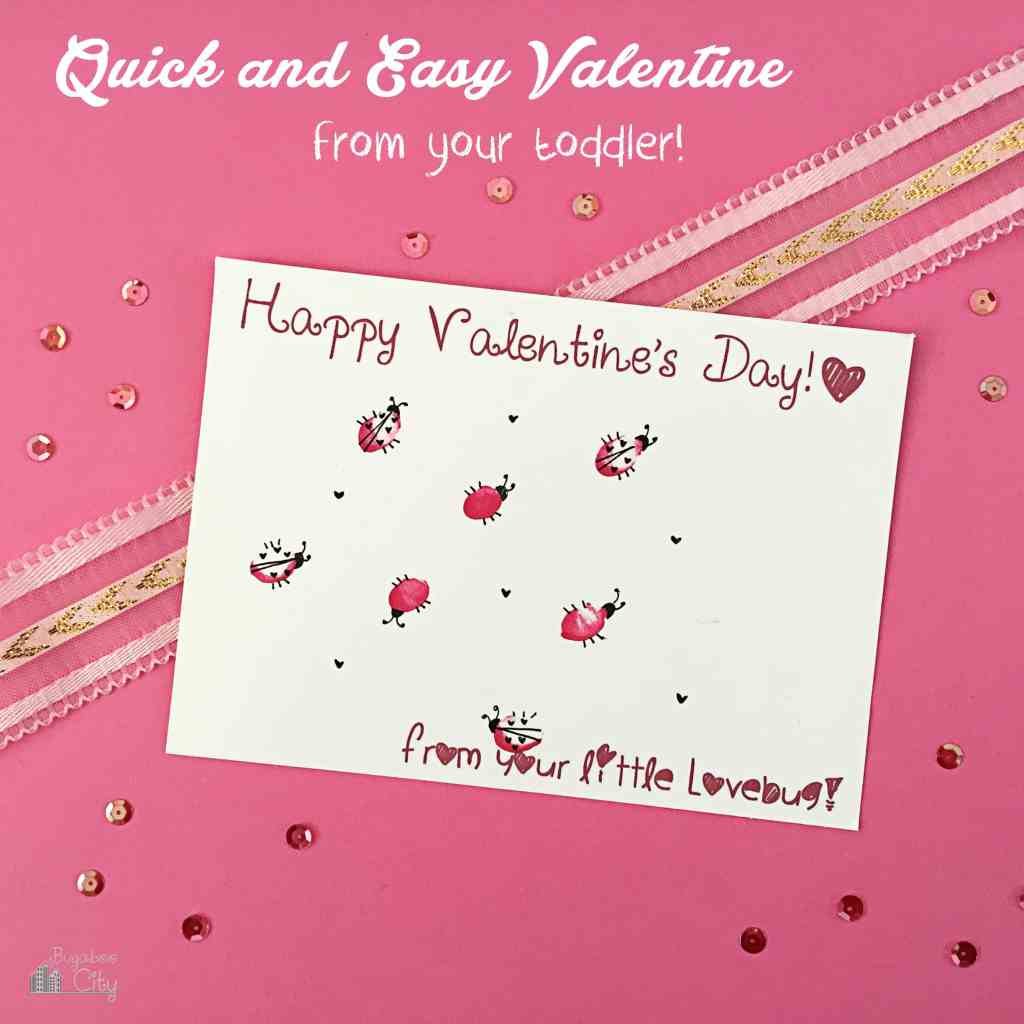 Quick and easy valentine from your toddler!