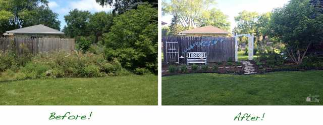 Our Garden Transformation Before and After