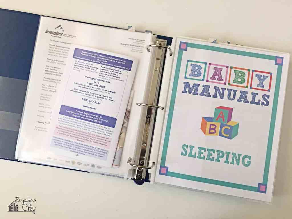 Baby Manuals Binder Printables 6