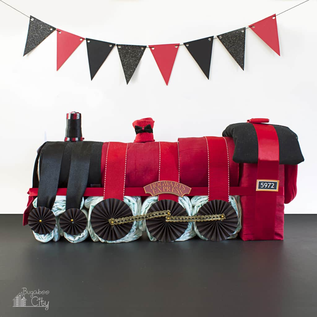 Harry Potter Diaper Cake Tutorial Hogwarts Express