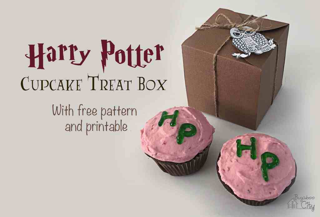 Harry Potter Cupcake Treat Box and Free Printable Owl Tag