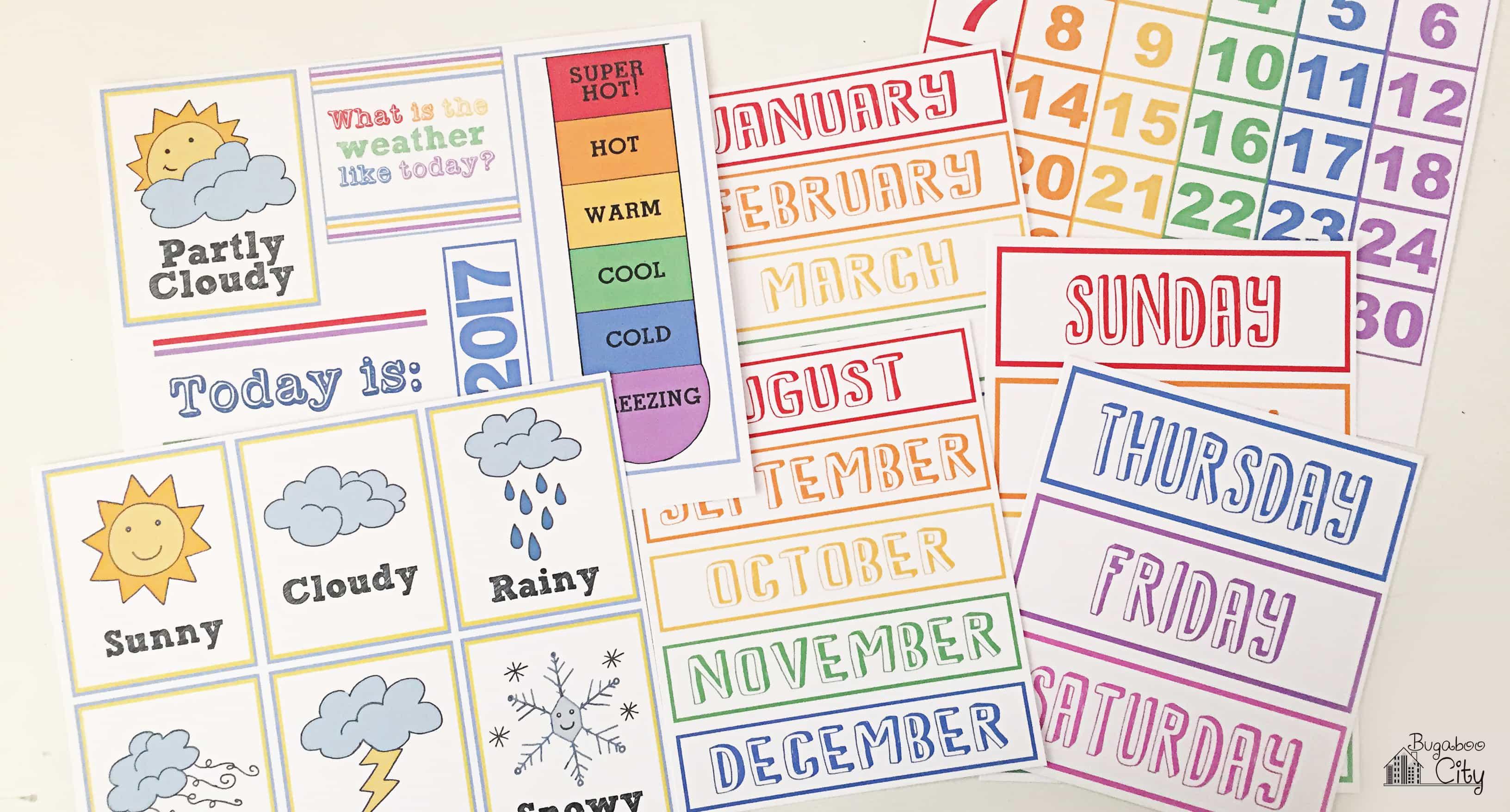 Diy Calendar Printables : Diy toddler calender magnet board lots of free printables