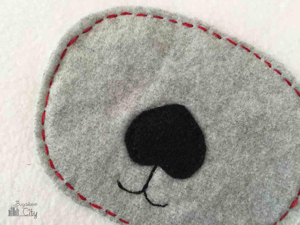 DIY Polar Bear Holiday Pillow 2