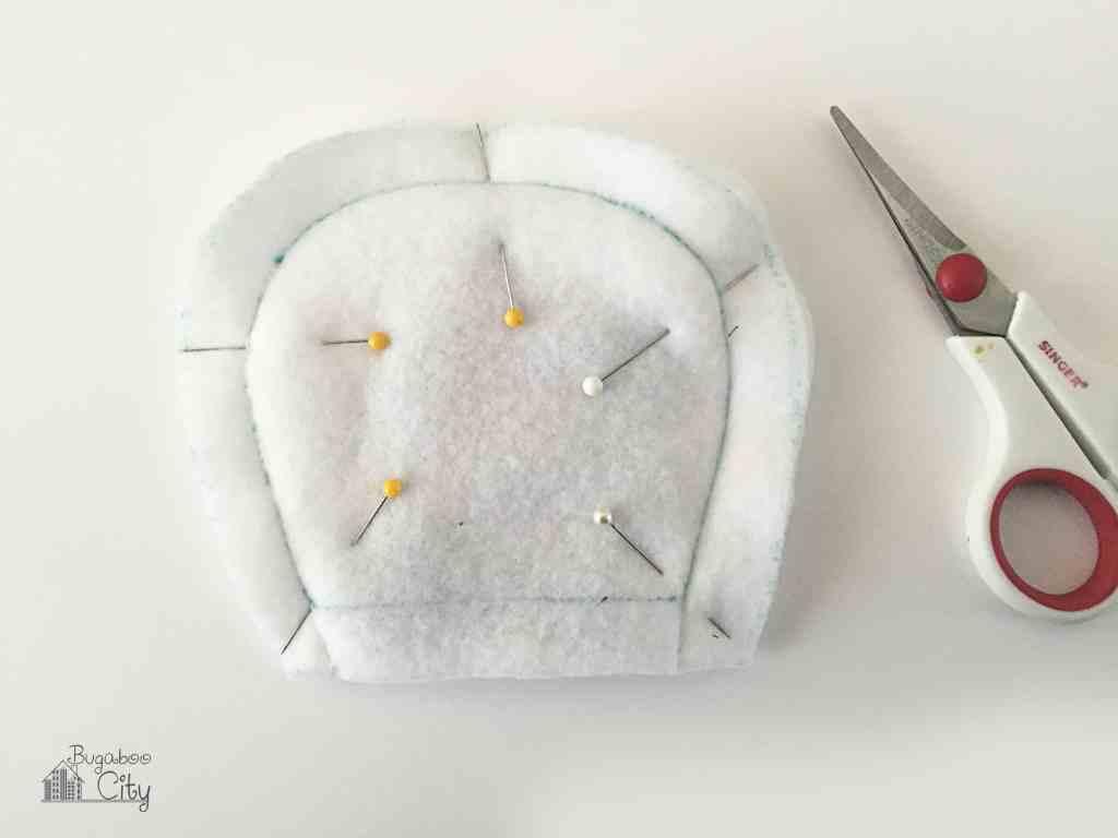 DIY Polar Bear Holiday Pillow 5