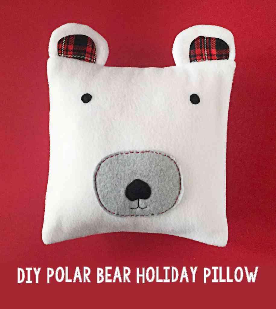 DIY Polar Bear Holiday Pillow 99