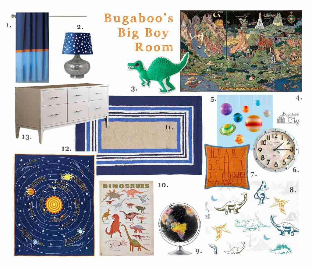 Bugaboo's Big Boy Room Inspiration Board