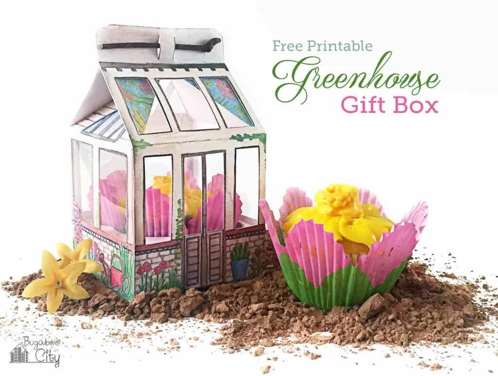 DIY Greenhouse Gift Box with Free Printable