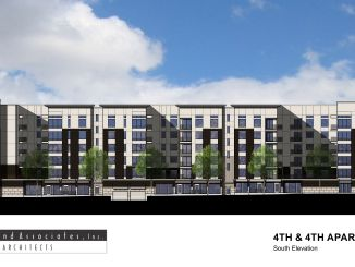 Rendering of the 4th and 4th Apartments as designed by Tuttle and Associates.  Image courtesy Salt Lake City.
