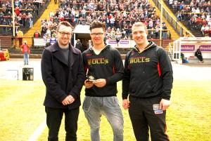 BullBuilder member Dominic Barker with James Bentley and Matt Diskin