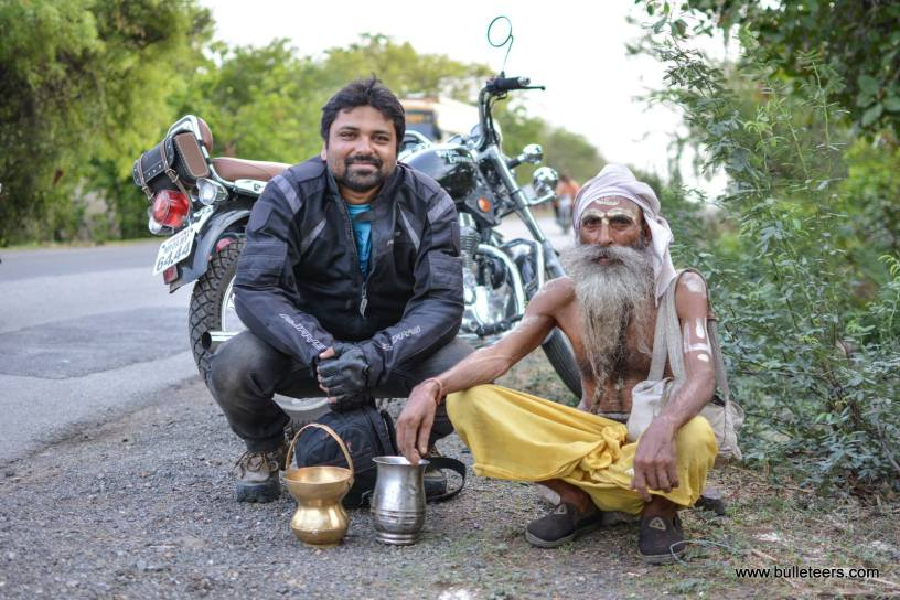 Bulleteers, Royal Enfield Riders from Gwalior, ride to Bela ki Bawadi. A well dug by troops of Prithviraj Chauhan on route from Shivpuri to Gwalior