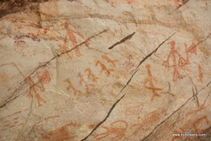 Prehistoric cave paintings at Likhichaj, Pahadgarh