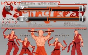 Raging BeatTwin Dagger, Dual Blade, Partizan, Double SaberArtist: アミガサタケ