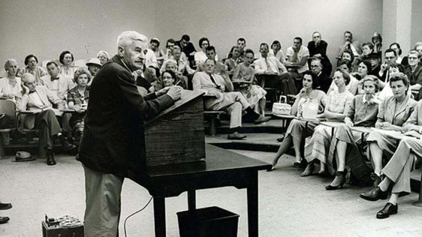 William Faulkner at Rouss Hall in 1957