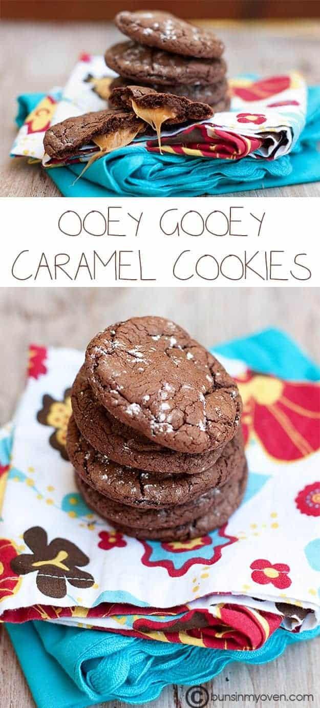 Ooey gooey rolo caramel cake mix cookies