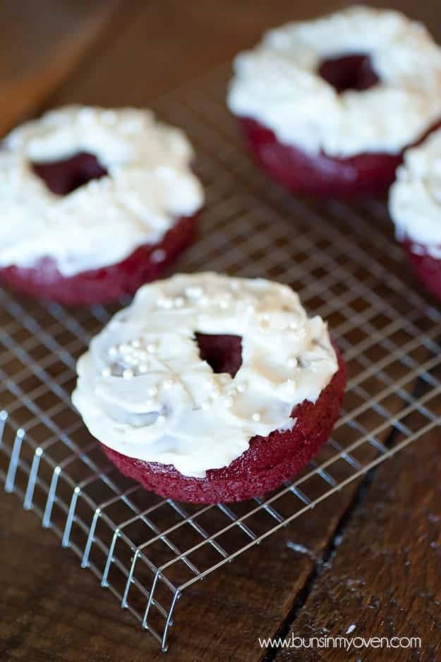 red velvet cake mix donut recipe for valentine's day