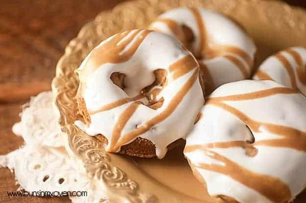 Fluffernutter Donut Recipe - baked peanut butter donuts with a gooey, messy marshmallow glaze!