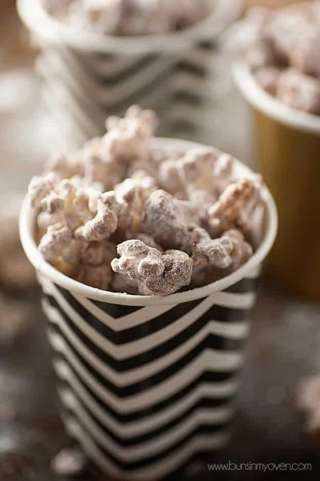 Puppy Chow Popcorn Recipe (Muddy Buddies in popcorn form!)
