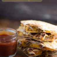 Forget a cold meatloaf sandwich! This cheesy meatloaf quesadilla is outrageous - especially when dipped in the meatloaf sauce!