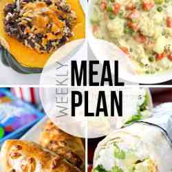 An easy weekly meal plan - this week is full of easy soup recipes!
