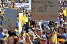 insegnanti slovacchi in sciopero (foto hnonline.sk)