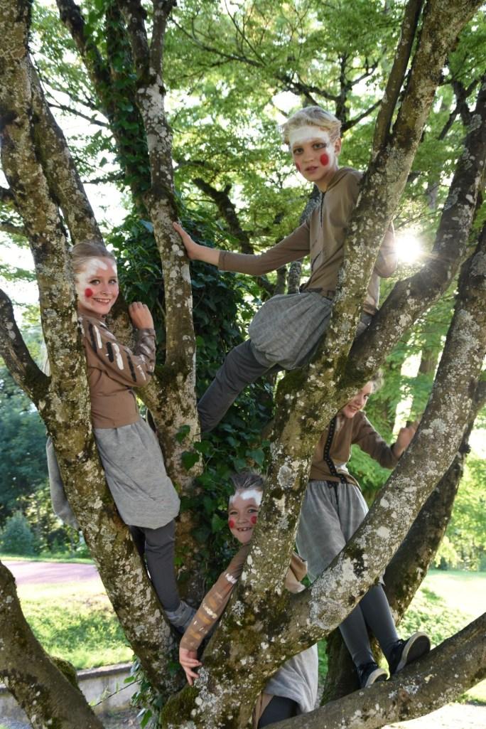 Spatzen im Baum