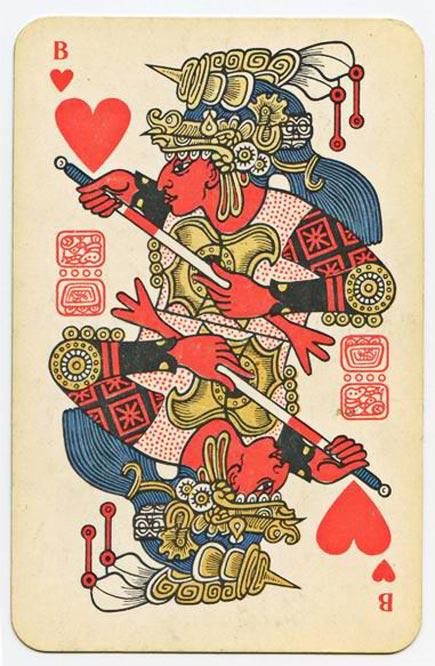 maya playing card from soviet era