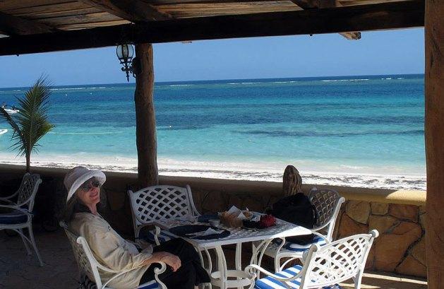 Lunch with Carol at Puerto Morelos