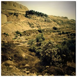 The ongoing construction of Beiter Ililt Settelment above the ancients farming terraces of Wadi Fukin.