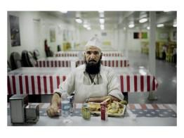 An afghan worker on a US military base in Gardez. Gardez. Afghanistan.