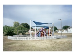 Playground for kids in an officer's neighborhood. Guantanamo US naval base, Cuba.