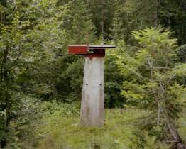 What is left of the arrival station of the Pra' di Bosco skilift near Prato Carnico (UD). In 2008 the local government has allocated 4 mln euros to enpower this facility. Without ever erogating that sum, the local authorities are now planning on buliding a brand new ski tow with Promotur, rejecting the project proposed by the actual concessionaire of the skilift. ----------------------------------------- Il Pilone di arrivo della sciovia di Pra' di Bosco, Prato Carnico (UD). Per questa sciovia ferma da alcuni anni, la Regione aveva stanziato 4 milioni di euro per riqualificarla; senza aver mai erogato effettivamente questi fondi, ad oggi la Regione prevede la costruzione di una nuova sciovia ex-novo da affidare alla Promotur, rifiutando cosi il progetto -alla meta' del costo - di riqualificazione di tutta l'area proposto dall'attuale concessionario degli impianti e del relativo albergo.