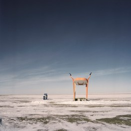 Mongolia, Gobi, Omongov, 2013 A bus stop few kilomenters from the city of Dalanzdgad