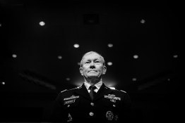 Gen. Martin Dempsey, chairman of the Joint Chiefs of Staff, prepares to testify before the Senate Armed Services Committee hearing on Thursday about the Defense Department response to the attack on U.S. facilities in Benghazi, Libya, and the findings of its internal review following the attack.